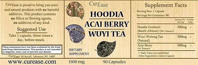 Amazon Com Curease Hoodia Gordonii Acai Berry Extract Wuyi