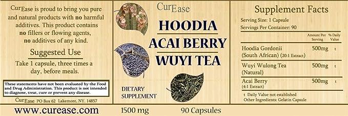 Amazon Com Curease Hoodia Gordonii Acai Berry Extract Wuyi