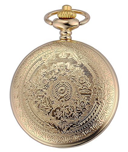 Carrie Hughes Vintage Golden Quartz Pocket watch with Chain CH98 by Carrie Hughes (Image #2)