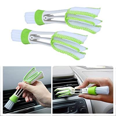 StyleZ 2PCS Multi-function Double-Head Clean Brush Car Indoor Air-condition Outlet Window Care Cleaning Tool: Kitchen & Dining