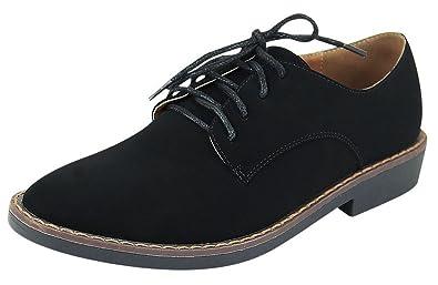 4201036e0 Anna Shoes Women's Lace-Up Oxford Wingtip Closed Toe Flat Heel Shoe (7.5 B