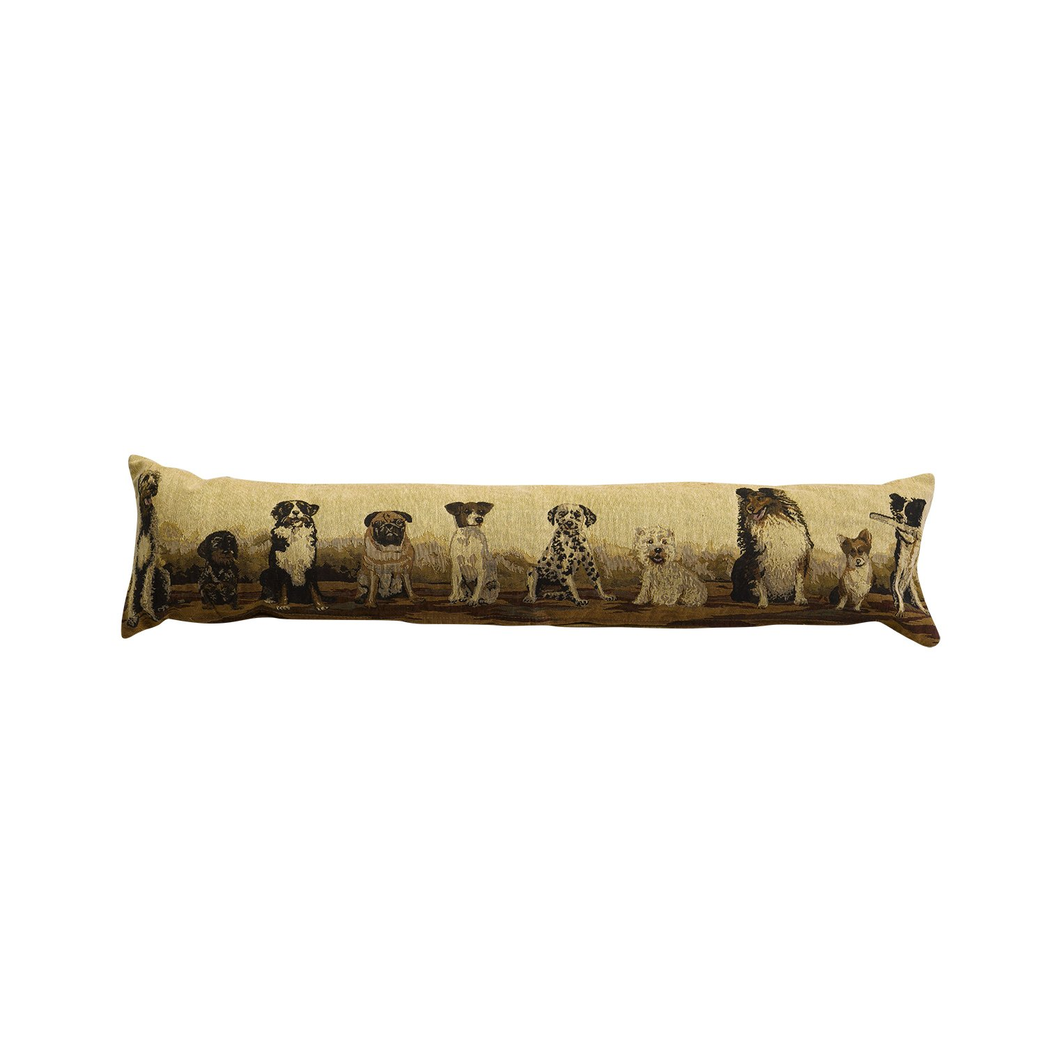 Classic Home Store Animal Design Draught Excluder Tapestry Style Fabric Door or Window Draft Guard Cushion (Mixed Breeds)
