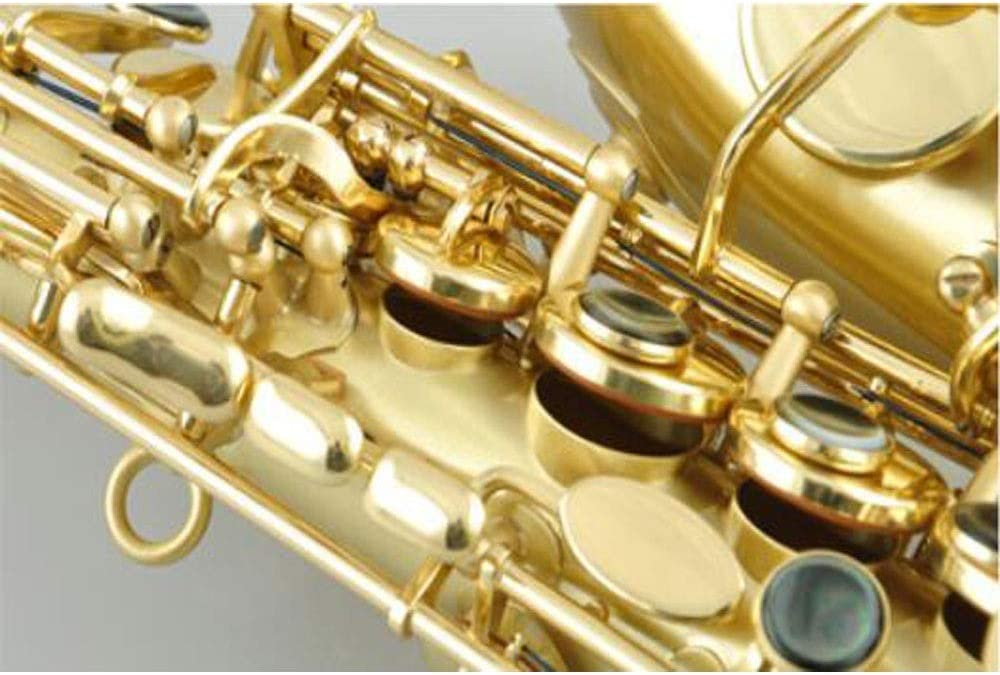 B-sax Brushed Soprano Saxophone Suitable For Children Adult Beginners,Natural beauty Jingfengtongxun Saxophone Color : Yellow