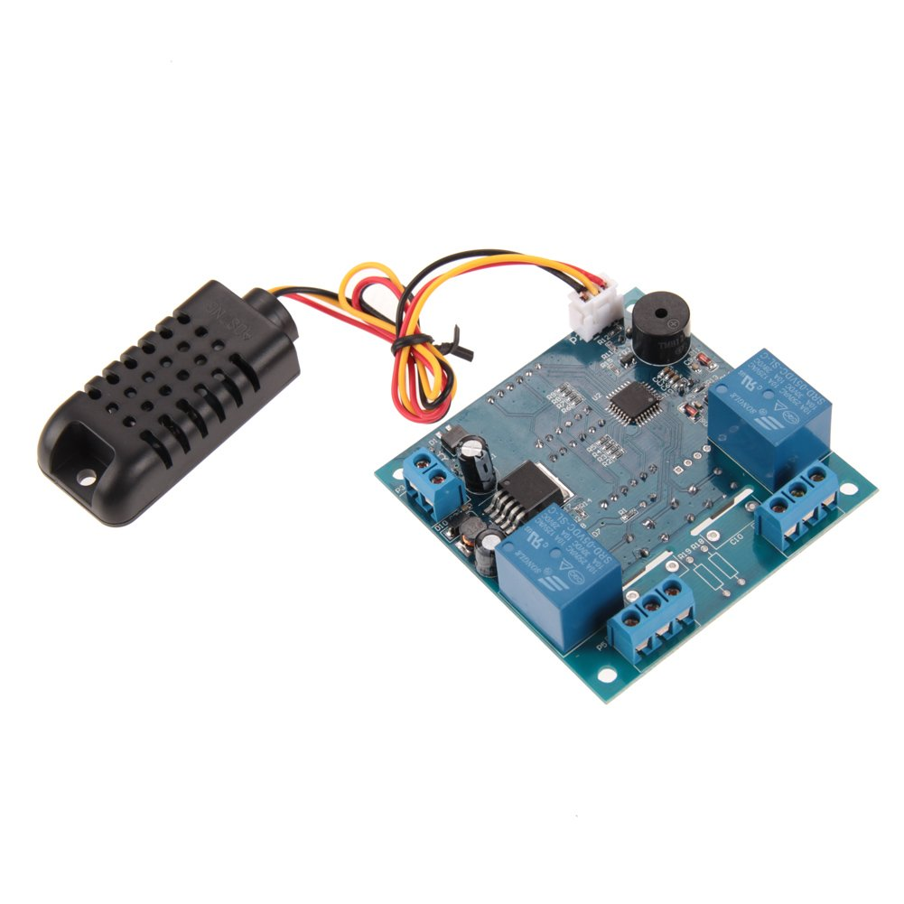 MIMI New AC/DC 12V Intelligent Temperature Humidity Controller Relay Thermostat Capacitive Temperature and Humidity Controller Board NEW by MIMI (Image #4)