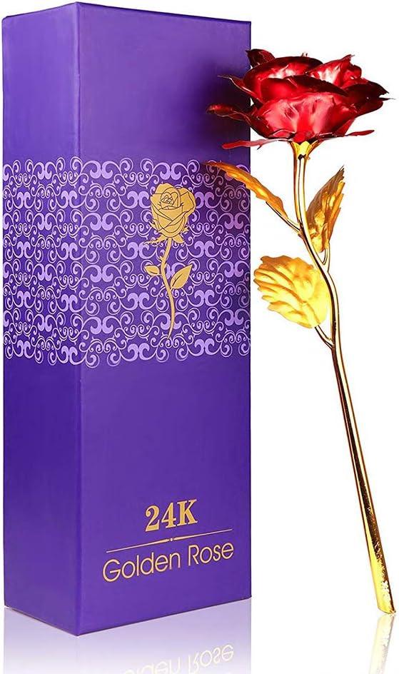 Rosas bañadas en oro (3 colores) por sólo 4,24€