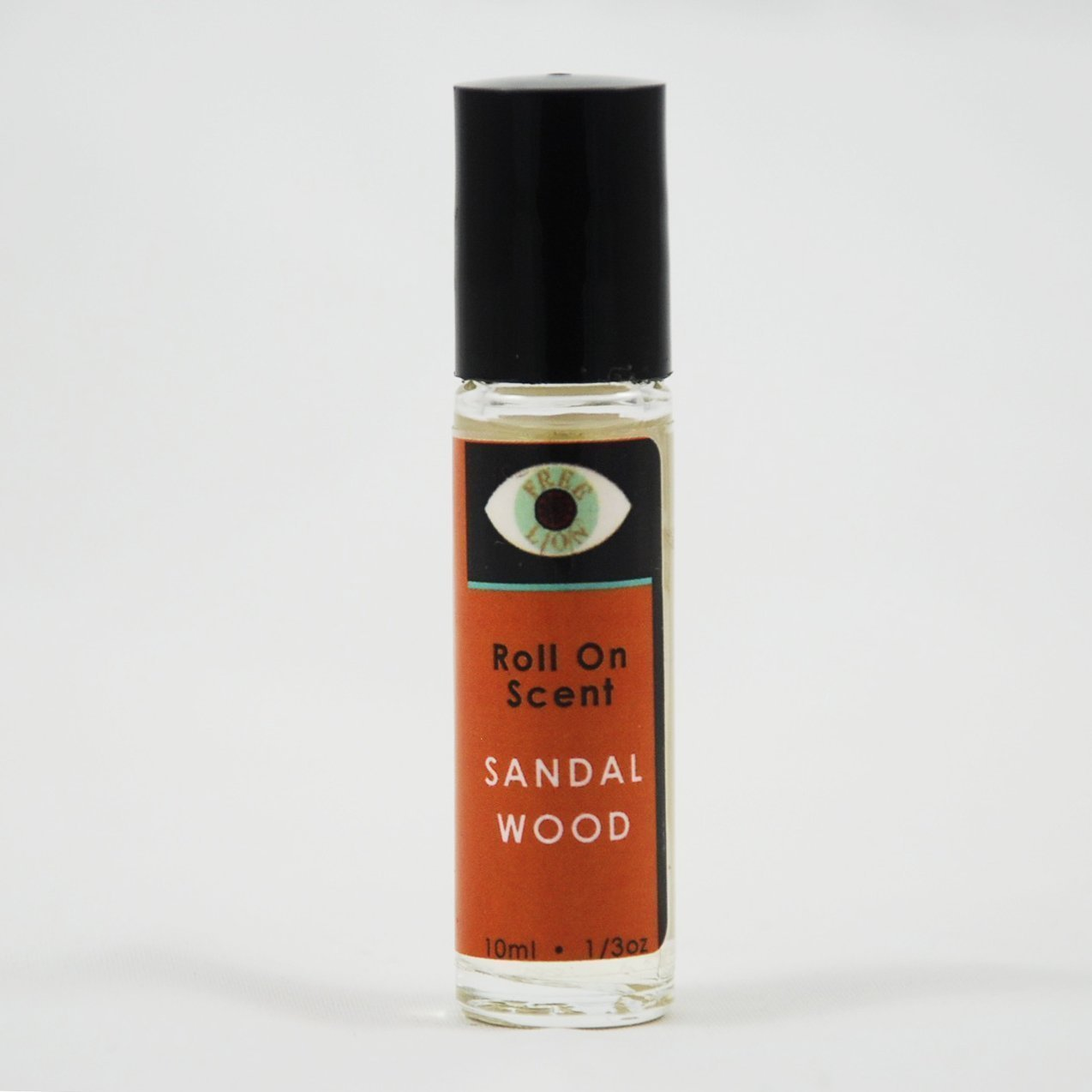 Free Lion Sandalwood Roll On Perfume - 10ml Handcrafted Natural and Non-Toxic Fragrance and Essential Oils
