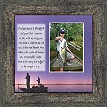 Fisherman's Prayer, Personalized Fishermens Gifts for the One You Love, Fishing Décor Picture Frame 10X10 9701BW