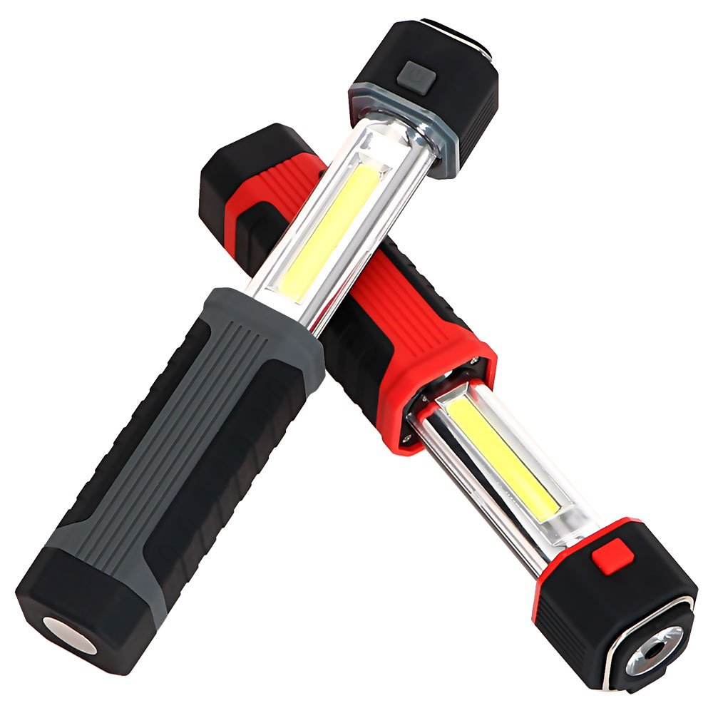 TAIYIdz 2 in1 3W COB LED Stretchable Flashlight Torch Working Lamp Camping Light with Strong Magnet,Pack of 2 (Without battery)