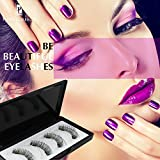 Long Dual Magnetic False Eyelashes Fake Lashes with Tweezer - Upgrade 3D Handmade