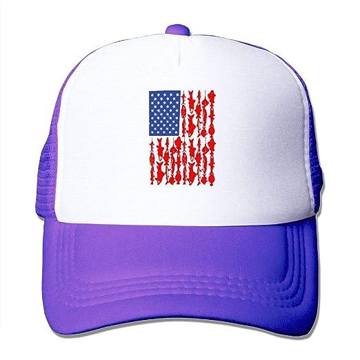 Amazon.com  qilifz USA Fishing American Flag Fishing Unisex ... 1c565ca8467