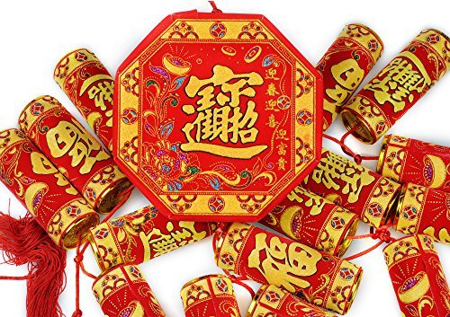 KI Store Chinese New Year Decorations 2018 Lunar Spring Festival Traditional Oriental Home Decor Restaurant Hanging Firecracker Large 57