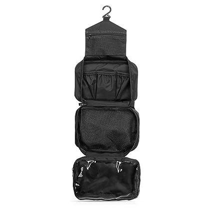 Bolsas de aseo Neceser de viaje Bolsa de Maquillaje Para Colgar plegable Bolsa de Lavado impermeable con el peine libre ONEGenug