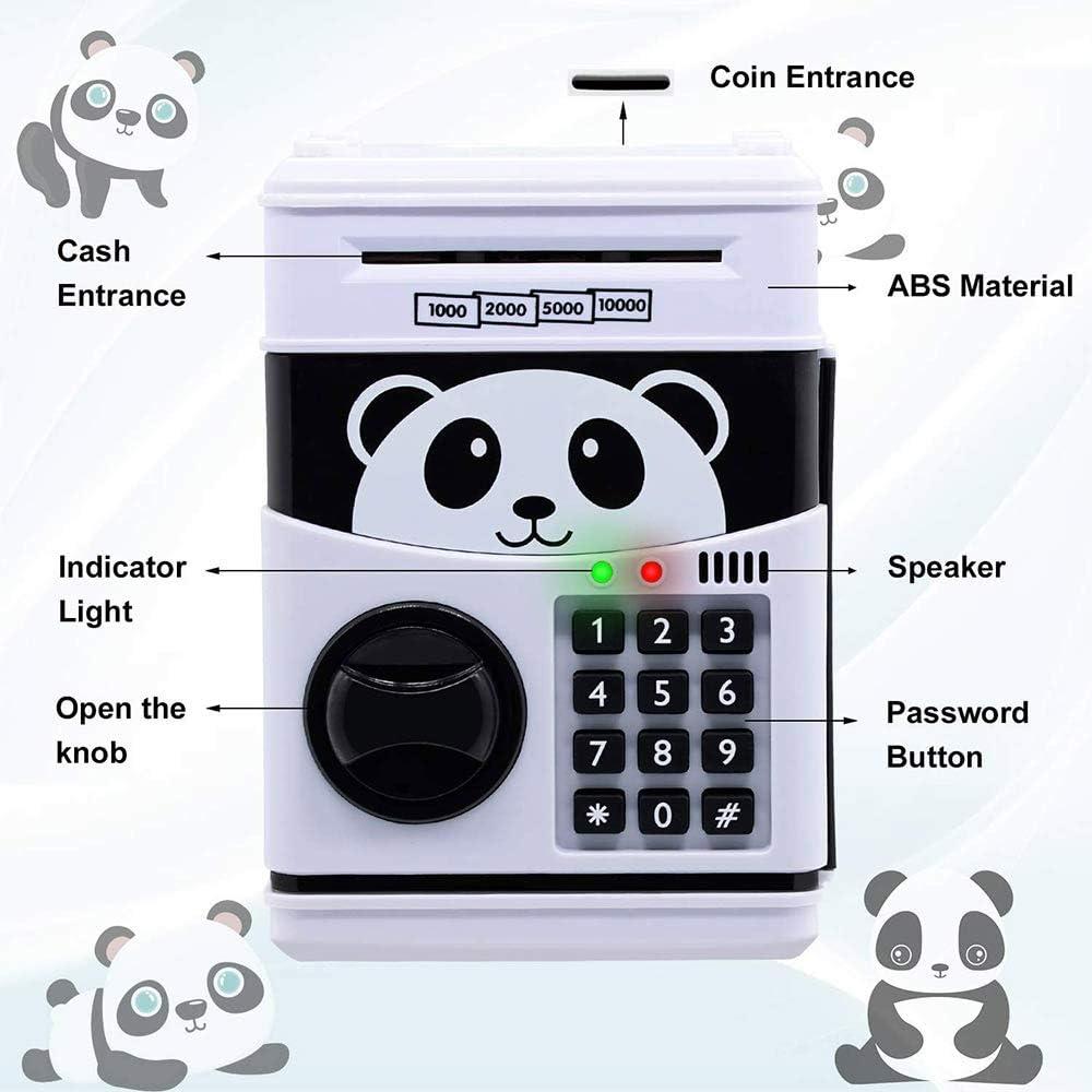 mini-guichet automatique tirelire /électronique /à mot de passe tirelire pour enfants YUNYODA Tirelire /électronique argent automatique enroulant des pi/èces de monnaie /épargne Jar Safe Money Bank