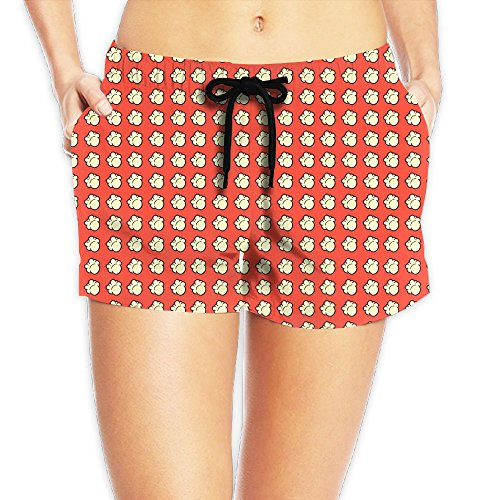 9235775f01909 WeiGin Women's Popcorn Quick Dry Waistband Pockets Beach Short Summer  Swimwear Small