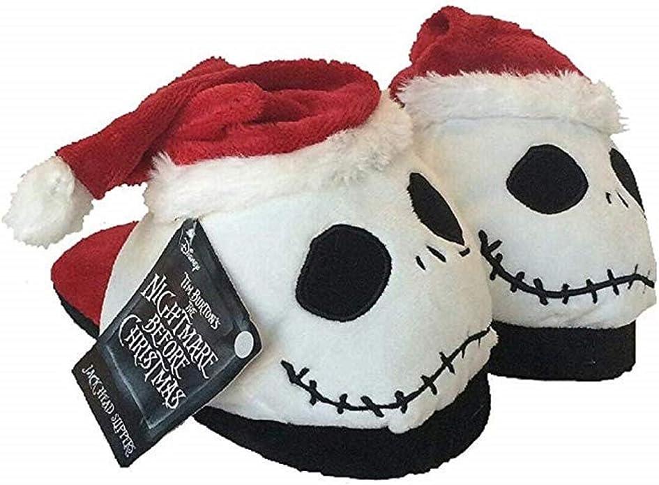 The Nightmare Before Christmas Jack Skellington Soft Plush Warm Slippers Cute