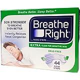 ブリーズライト エクストラ クリア(透明) 44枚入 (並行輸入品) Breathe Right Nasal Strips, Extra Clear for Sensitive Skin, 44 Clear Strips [並行輸入品]