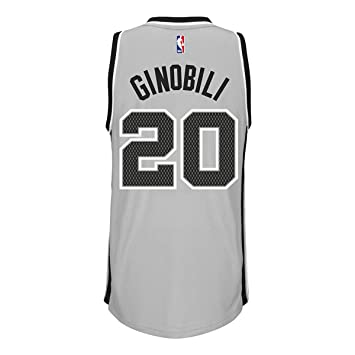 ... Manu Ginobili San Antonio Spurs NBA Adidas Men Grey Official Climacool  Alternate Swingman Jersey (3XL ... 6a286a5ad