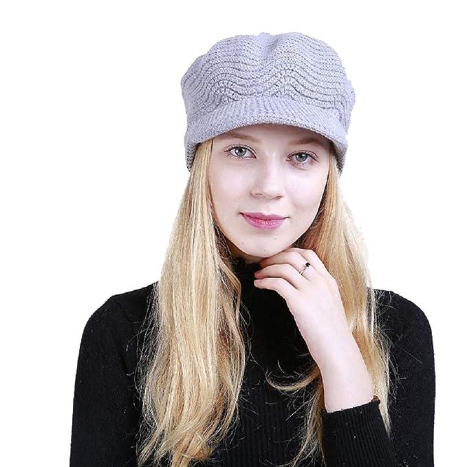 Yuson Girl Cappelli Invernali per Le Ragazze delle Donne Calde Calza  Cappello di Sci di Neve di Neve della Neve con la Visiera (Grigio)   Amazon.it  ... 8aa35d5b865a