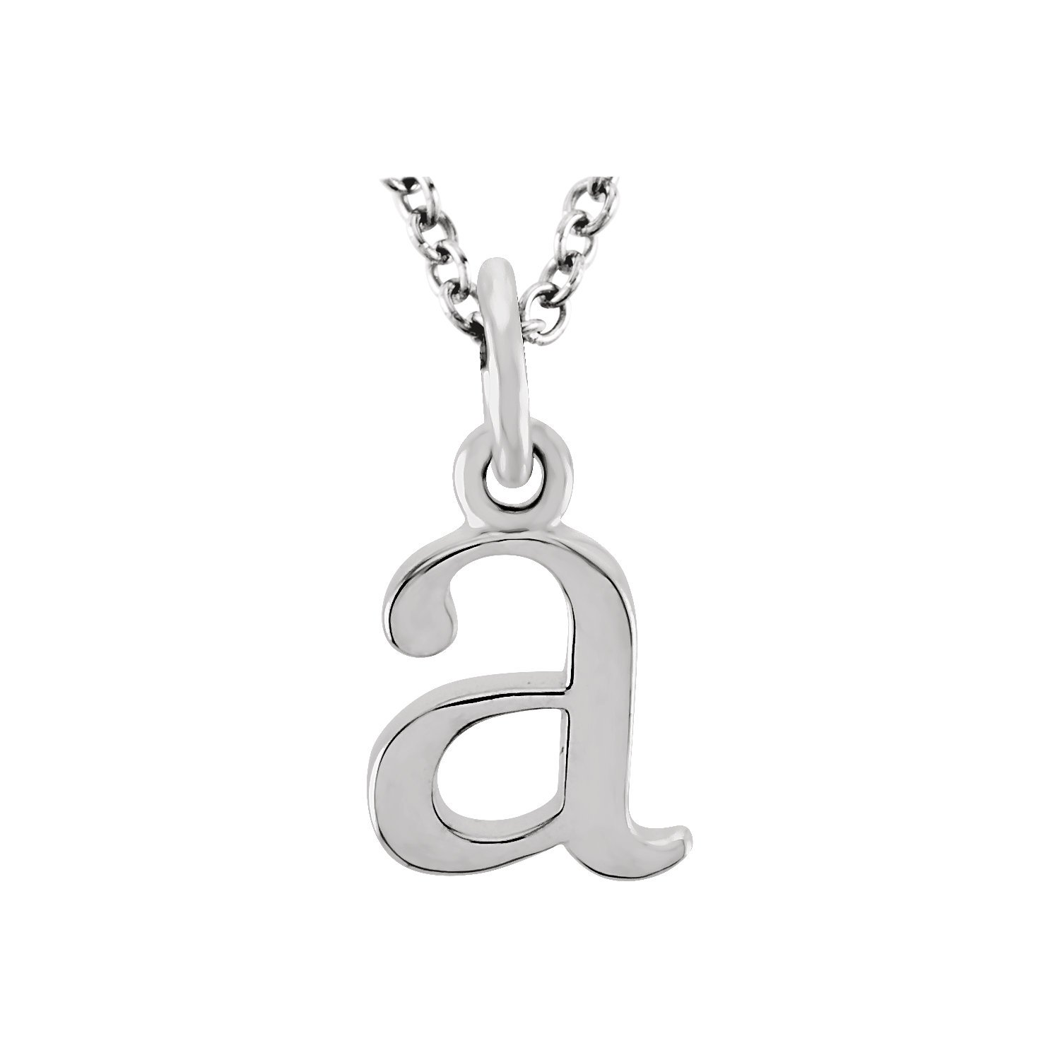 Lowercase Initial Necklace or Pendant