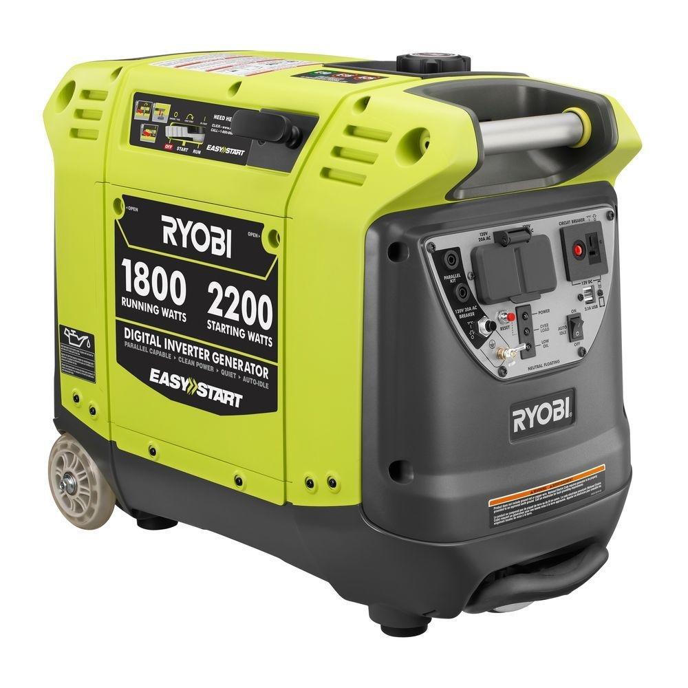 Ryobi 2200 Watt Digital Inverter Generator Ryi2200 700 Power Driver Ridgid 230v 41940 Garden Outdoor