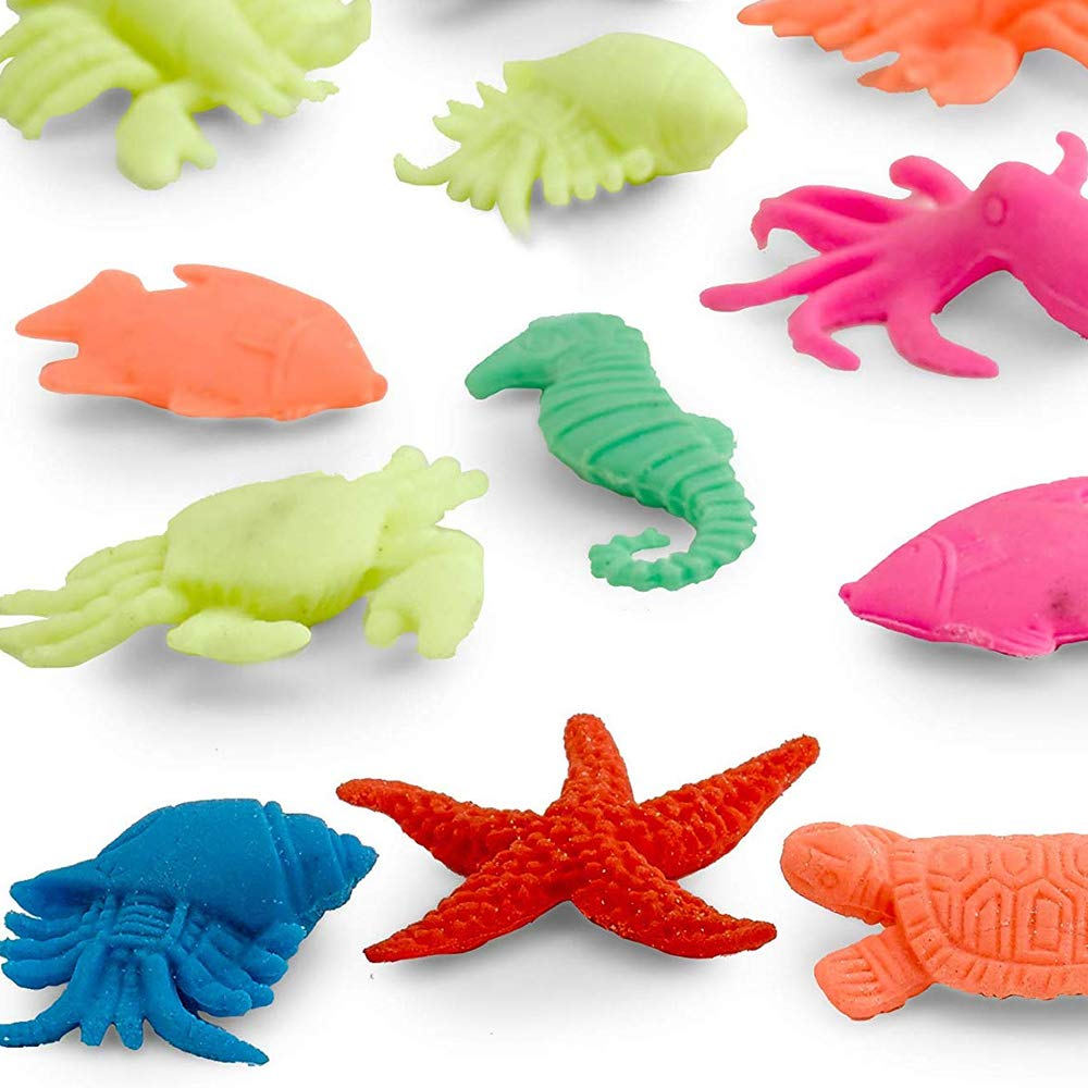 Kidsco Growing Animals Sea Life - Pack of 12 Creatures Figures, 1.25'' to 2'', Assorted Colored Animals - Grows Like Magic in Water - Fun Toy for Kids Boys and Girls, Party Favor, Gift, Prize by Kidsco (Image #8)
