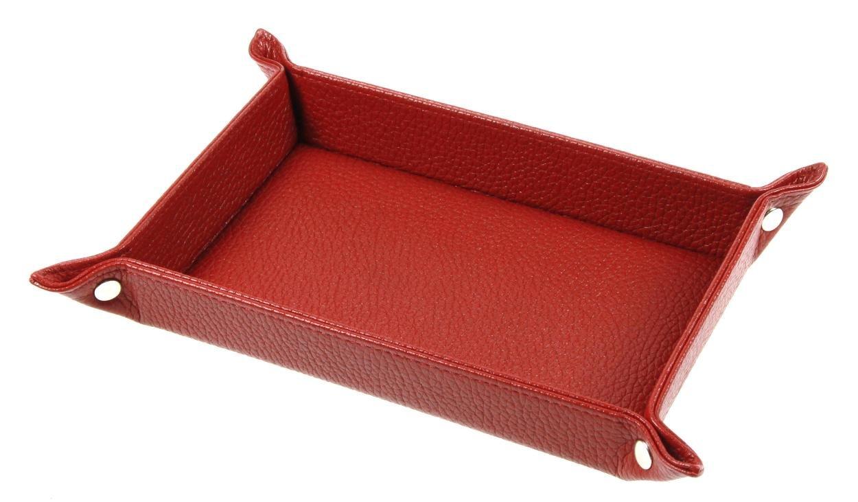21 x 15 cm Lucrin Glattleder - Rot Rechteckige Taschenleerer