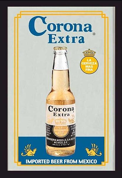 Vintage Interior solid cast antique brass bottle beer opener wall mount Corona symbol