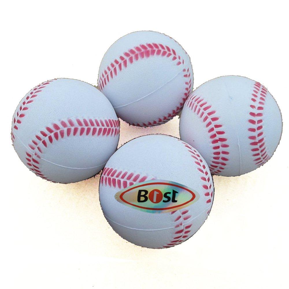 B1ST Practice Baseballs Foam Softballs Training Sporting Batting Soft Ball White 9 Inch Pack of 12 by B1ST