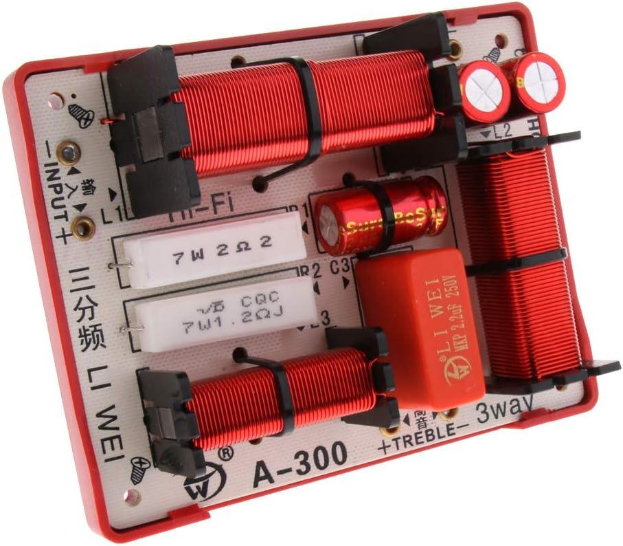 perfk Nuevo Divisor de Frecuencia de Graves Cruzado de Audio de Altavoces Filtros 3 Vías 180W Hi/Lo/Lo