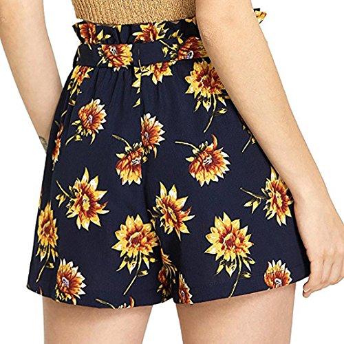 Pantaloncini Donna Damen Sanfashion Shorts Hosen Gelb gHEHq86