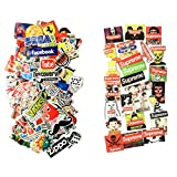 #1: STICON Buy ONE GET ONE Free (124 Pieces in Total) Vinyl Waterproof Stickers for Car, Laptop, Luggage, Skateboard, Motorcycle, Bicycle Decal Graffiti Patches (Series A)