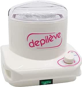 Depileve Wax Warmer with Silver Insert 400 gm - White, VLZZCZ400