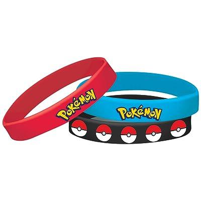 amscan Pokemon Rubber Bracelets, Party Favor: Toys & Games