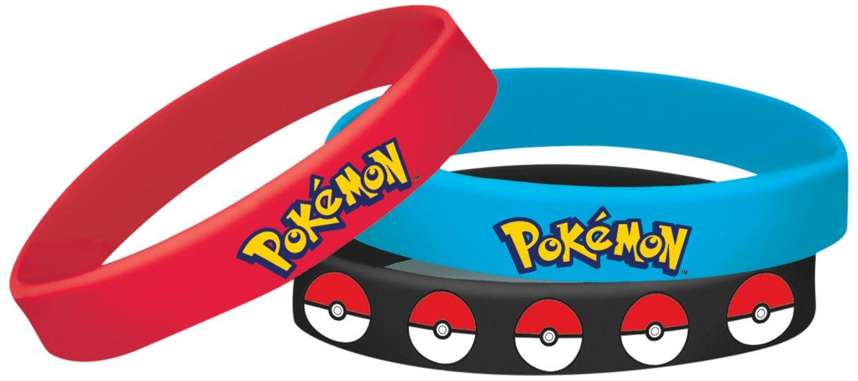 amscan Pokemon Rubber Bracelets Party Favor