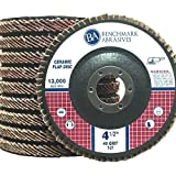 10 Pack - 40 Grit 4.5'' x 7/8'' Premium Ceramic Flap Discs Type 27