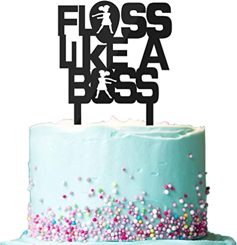 Superb Amazon Com Floss Like A Boss Cake Toppers For Girls Video Game Funny Birthday Cards Online Hetedamsfinfo