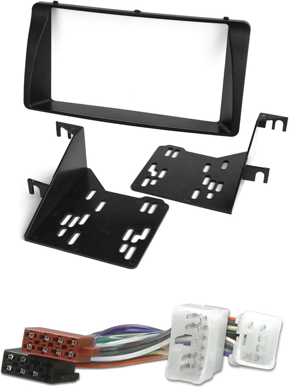 Mascherina Doppio DIN e Cavo Adattatore Set Installazione autoradio Watermark #6202//1172