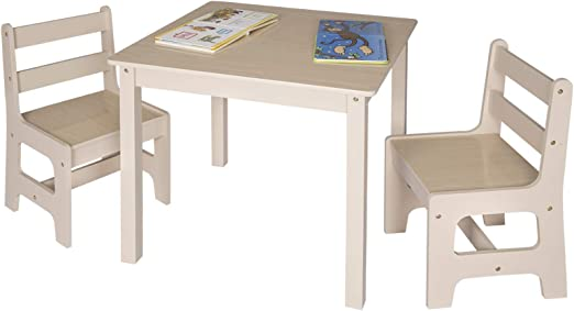 WOLTU Toddler Table and Chairs Sets Children's Desk Table with 2 Chairs Stools Set for Preschoolers Boys and Girls Activity Build & Play Table Chair