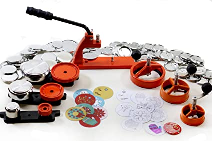 Holiday Special! Multi-size Button Maker Kit with Interchangeable Die / 1