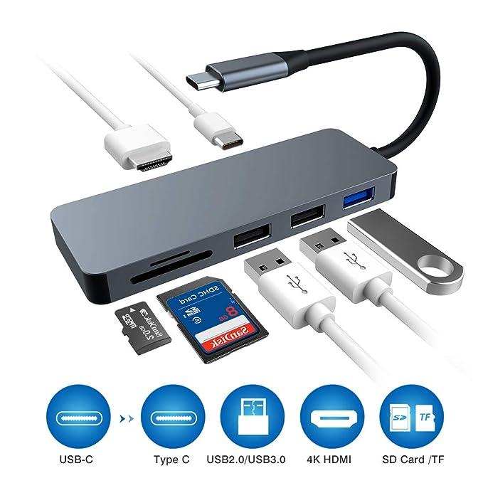 17 opinioni per Raycue Hub USB C Adattatore 7Porte con