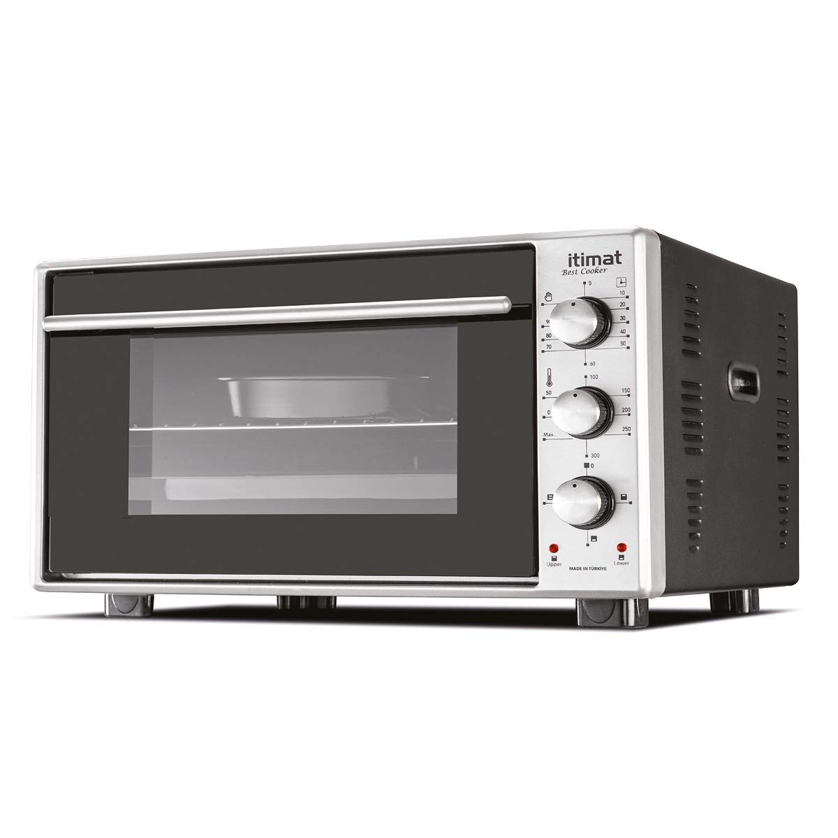 Itimat - Horno de doble cristal con ventilador turbo (60 L), color ...