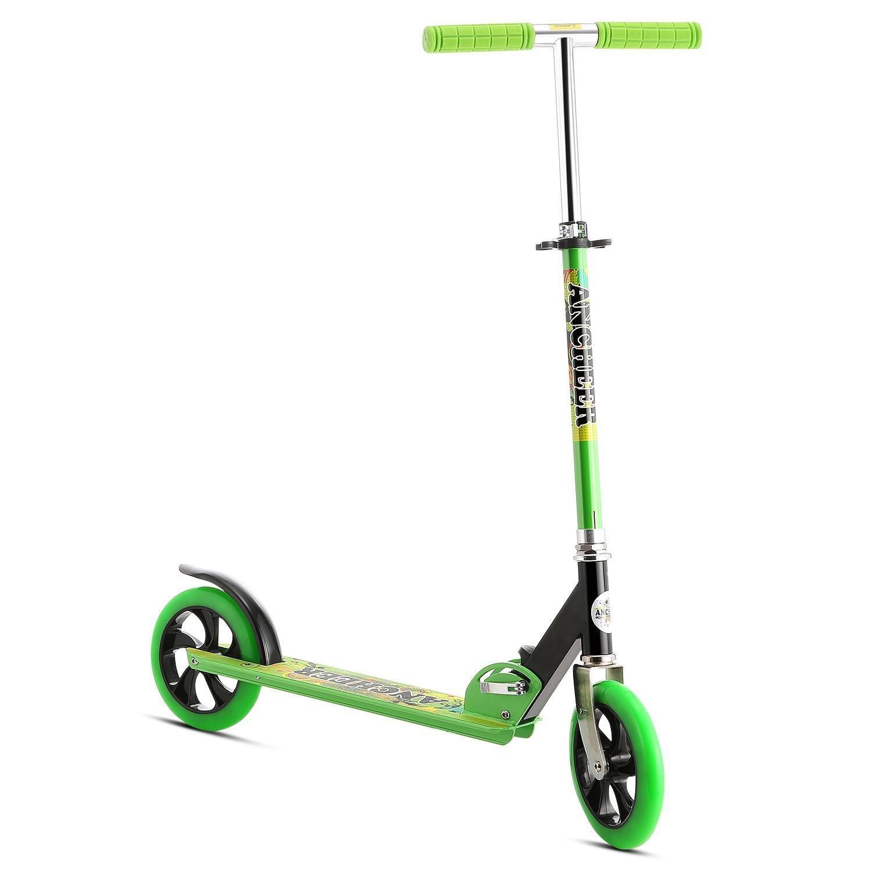 Eshion Teenager Lightweight Foldable Adjustable Height 2-Wheel Kick Scooter