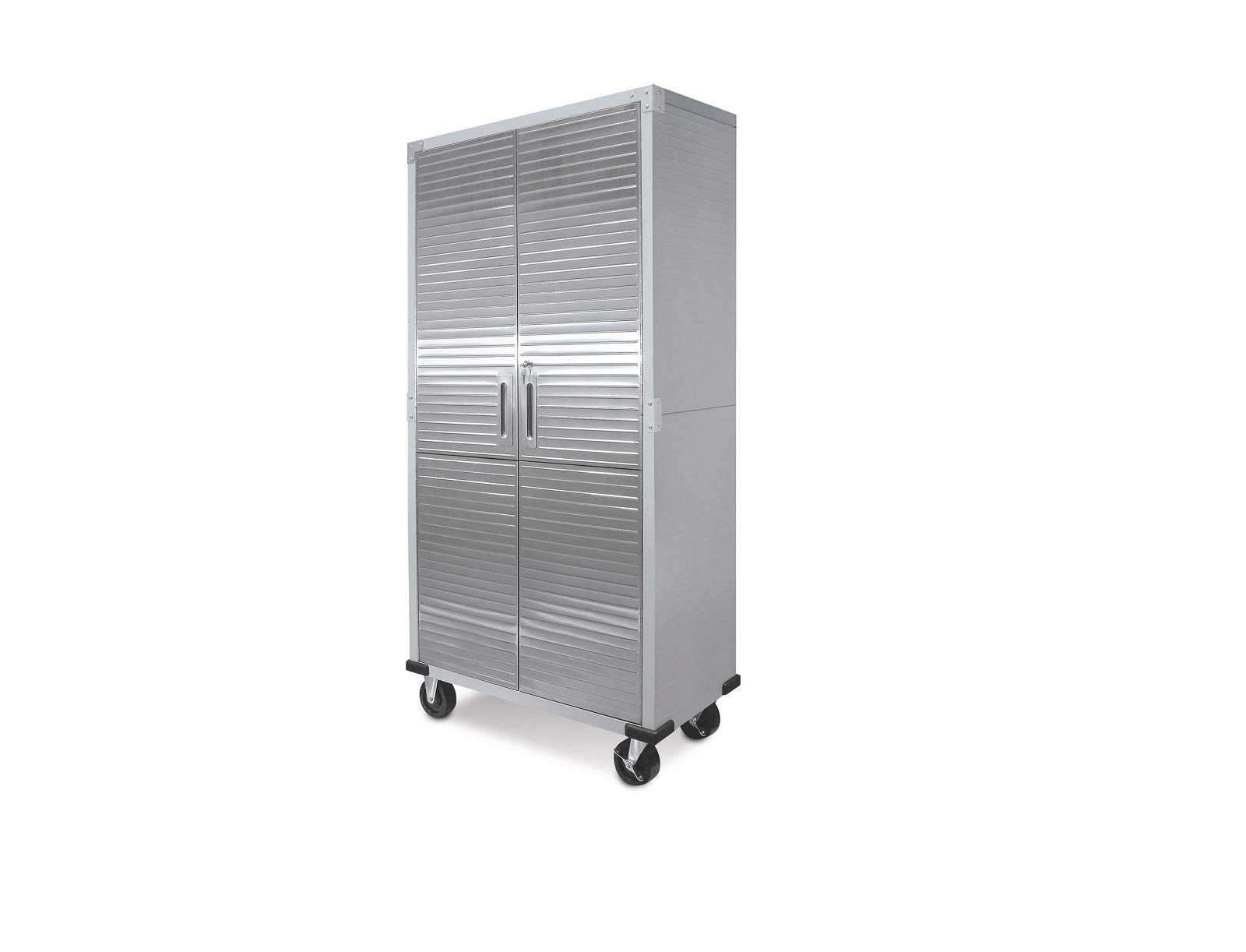 UltraHD Tall Storage Cabinet - Stainless Steel 2 Pack by Seville Classics