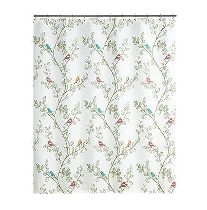 ZZYG American Shower Curtain Bathroom Garden Polyester Fabric Thick Waterproof Mildew