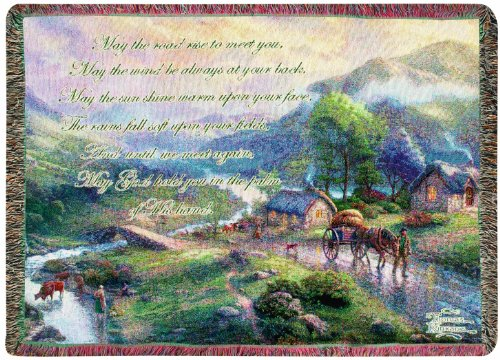 (Manual Thomas Kinkade 50 x 60-Inch Tapestry Throw with Verse, Emerald Valley)