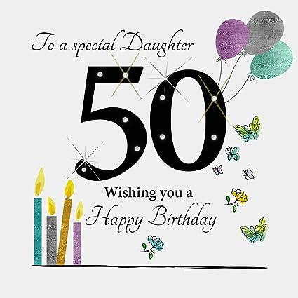 Tarjeta de felicitación de 50 cumpleaños para una hija ...