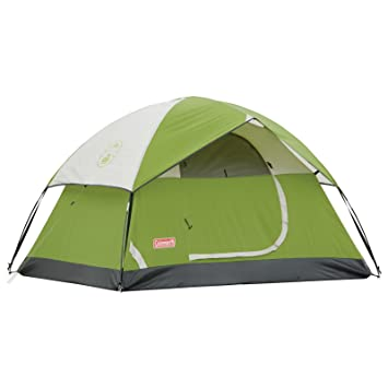 amazon com coleman 2 person sundome tent green backpacking