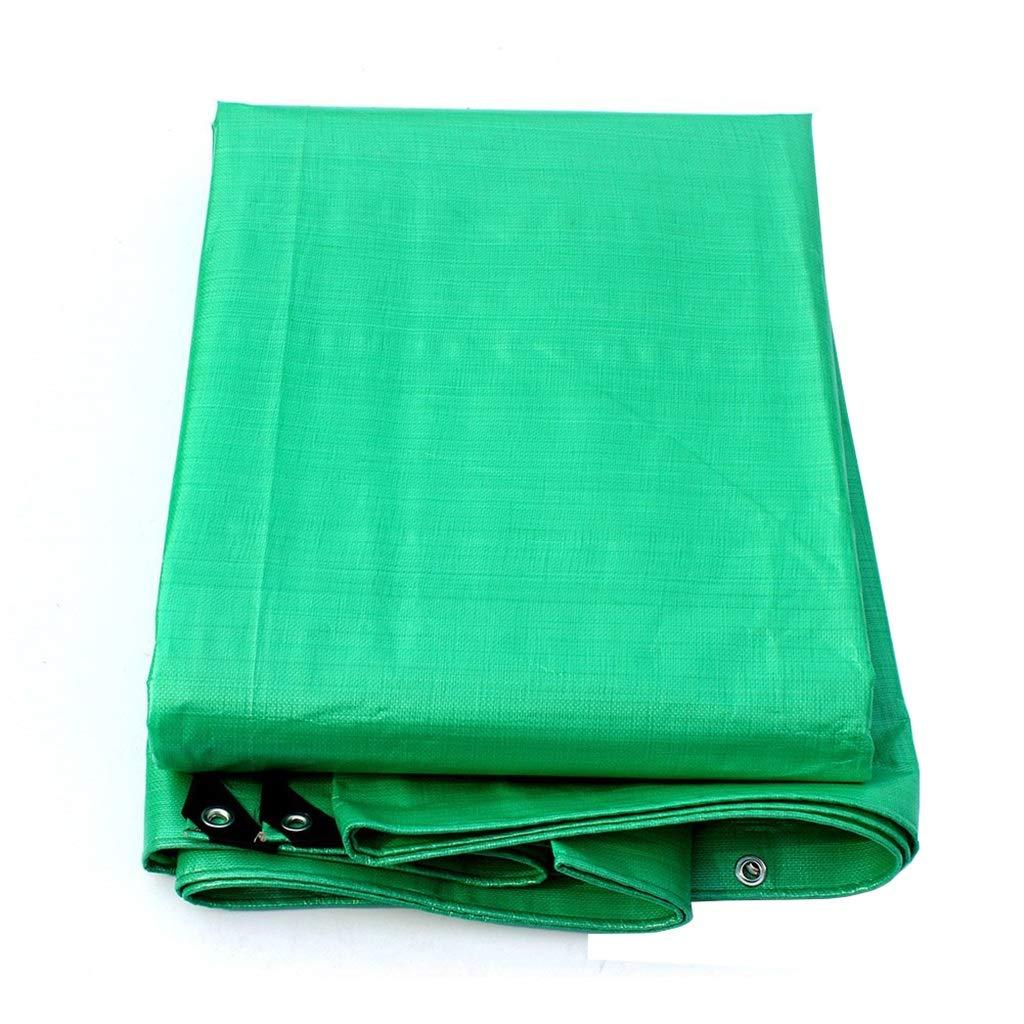 ターポリン 防水シート厚さ防水防水シートシートオーニングテントリップ耐性小屋布防雨性、180g /m²、透明グリーン (サイズ さいず : 8mx10m) B07S3ZQ6M3  8mx10m