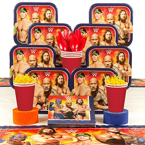 Costume SuperCenter WWE Party Deluxe Tableware Kit (Serves 8) by Costume SuperCenter