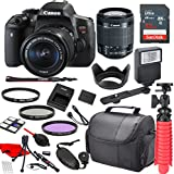 Canon EOS Rebel T6i Digital SLR Camera with Canon EF-S 18-55mm IS STM Lens, Sandisk 32GB SDHC Memory Card (25pc Bundle)